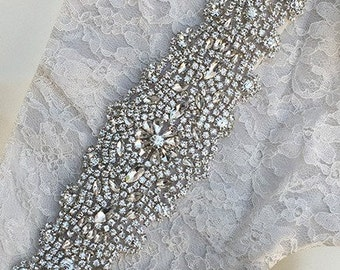 Wedding gown belt and sash, Wedding dress Belt and sash, Rhinestone bridal belt, Wedding gown rhinestone belts, Wedding dress belt bead