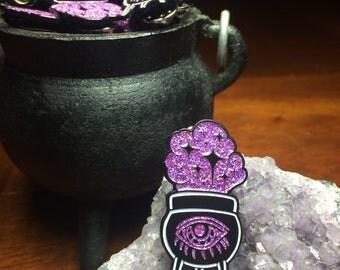 Smoking Cauldron lapel pin