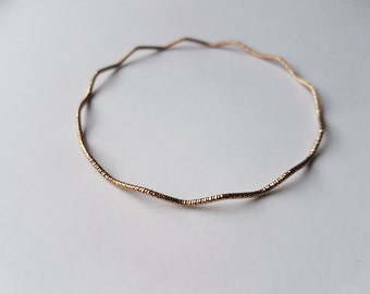 Gold Bangles | Frosted Gold Bangles | Stacking Bangles | Gold Bracelet | Thin Gold Bangles | Simple Gold Bangles