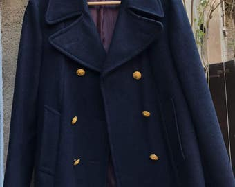 Pure wool double breasted military Jacket Women-