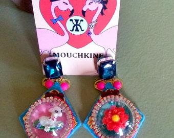 bohem flowers bubble earrings By Mouchkine / bohochic trendy & fashion