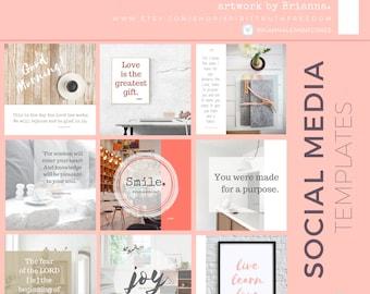 TEMPLATES: Instagram Templates, Social Media Marketing DIY Designs, Graphic Designs, PNG