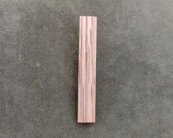 Red Oak Tie Bar, Handmade