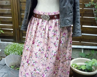 Long floral pink summer skirt and dress from Gyppo&Glitterati