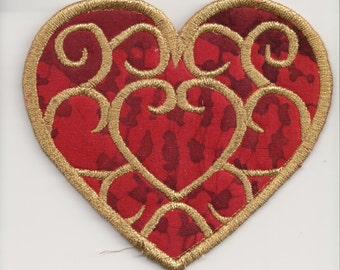 Legend of Zelda Skyward Sword Red and Gold Heart Container