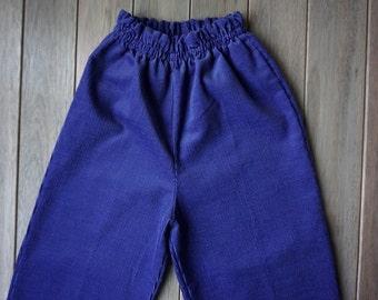 1970s Blue HealthTex Corduroy Pants - Size 5