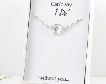 Crystal Silver Bracelet, Clear Silver Bracelet, Bridesmaid Crystal Bracelet, Silver Bracelet, Bridesmaid Bracelet, Bridesmaid Jewelry