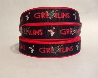 "1/3/5/10 Yards - 7/8"" Gremlins Grosgrain Ribbon 80's 90s Nostalgic Horror DIY Hair Bow Key Fob Pet Accessories"
