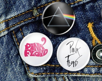 Pink Floyd Pin Button Badge Set 3 x 25mm Badges or Individual