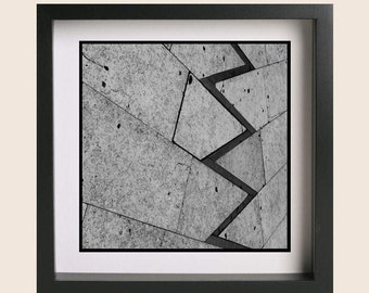 Abstract Ground Photography Print, Black and White