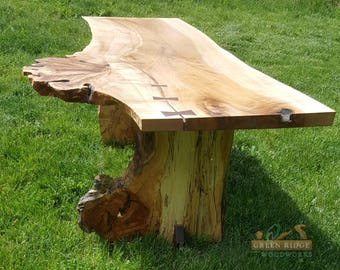 Live Edge Spalted Figured Maple Coffee Table