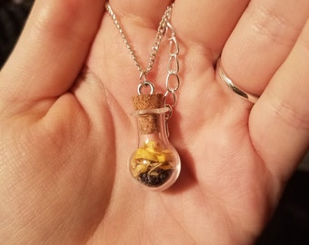 Psychic Aid Spell Bottle Necklace