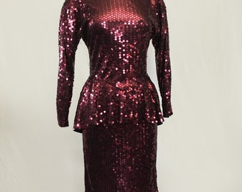 Party Purple Sequin Dress