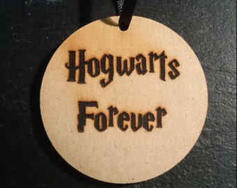 Harry Potter Hogwarts Forever Tag Token Decoration MDF Wood Hogwarts Wizard Birthday Gift