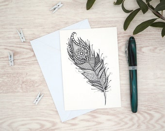 "Postcard ""Feather"""
