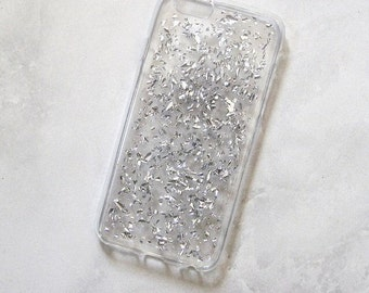 silver flake foil case iphone 6/6s