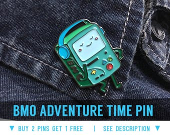 BMO Enamel Lapel Pin - Adventure Time badge pins brooch foodie boyfriend denim gift fanart cosplay costume cartoon