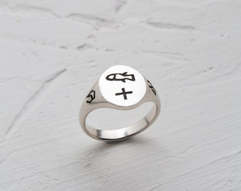 engraved ring, custom ring, signet ring, personalized ring, personal cameo, mantra ring, talisman ring, unique signet ring, silver ring