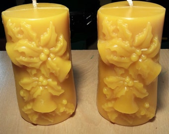 Beeswax candles set of 2