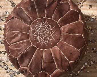 Moroccan leather pouf / Moroccan leather pouf