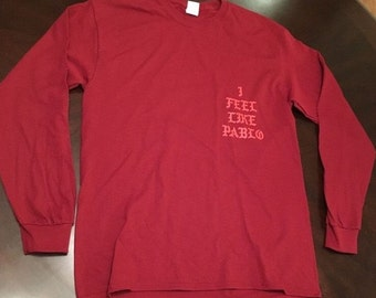 I Feel Like Pablo Ultra Light Beam Red Long Sleeve Shirt TLOP Kanye West MSG