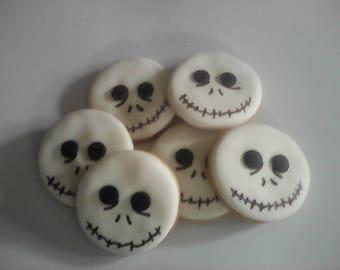 12 Skeleton Halloween Cookies Party Favors Halloween Party Favors Baked Goods Sugar Cookies Handmade Cookies Decorated Cookies Holiday Foods
