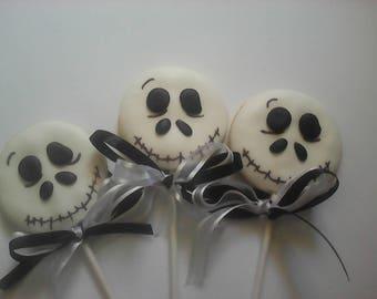 6 Skeleton Cookie Lollipops Halloween Cookies Party Favors  Baked Goods Sugar Cookies Handmade Cookies Decorated Cookies Halloween Treats