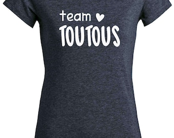"T-shirt cotton woman bio ""Team DOGGIES"", vegan tshirt"