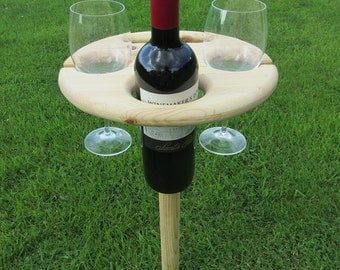 Outdoor Picnic Wine Holder