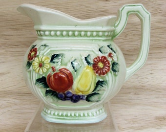 Vintage Robbia Elegante #2297 Ceramic Pitcher by Rubens Originals Japan