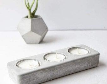 Concrete Tea Light Holder - Tea Light Holder - Wedding Centerpiece - Concrete Table Centerpiece