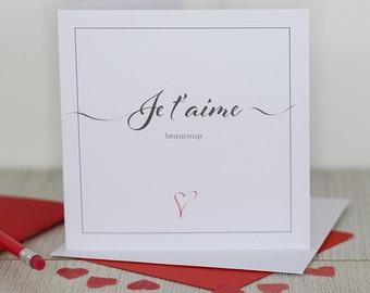 Love card - Je t'aime beaucoup