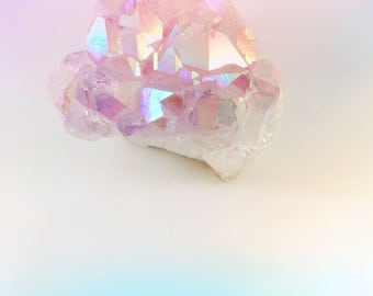 Pastel Lavender Healing Angel Aura Quartz Crystal Cluster