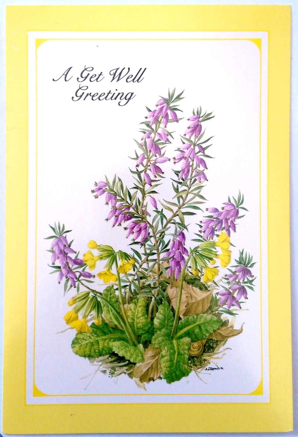 Gallant Greetings A Get Well Greeting Card 1980s 4 12 X 6 34