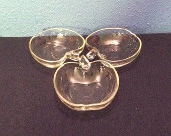 Vintage Apple Shaped Bowls, Set of Three