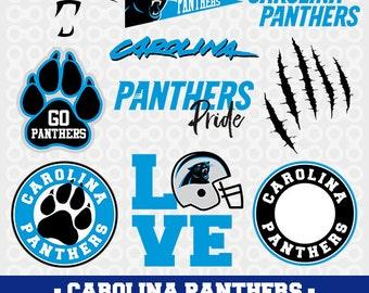 Carolina Panthers SVG, Panthers Football, Panthers Clipart, Carolina Panthers, Football Clipart, Silhouette Studio, Cutting Machines, SVG-09