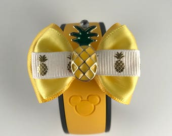Disney Parks Snacks Collection -Dole Whip inspired Magic Band Bow / Apple Watch Accessory