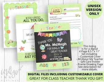 Teacher Thank You DIGITAL DOWNLOAD | Teacher Appreciation End of Year Gift | School Printable | Last Day of School Gift | Teacher Printable