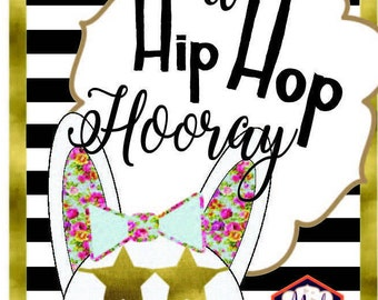 hipster easter printable hip hop bunny rabbit printable easter sign