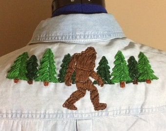 Bigfoot Embroidered Shirt