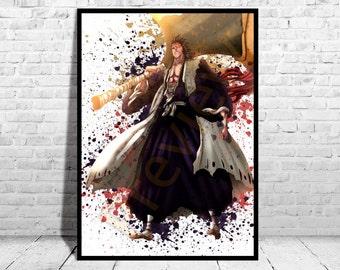 Zaraki Kenpachi Bankai, Bleach Anime, Anime Poster, Top Quality Poster, Anime Watercolor, Watercolor Print, Buy 2 get 3rd FREE, AG28