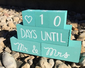 Wedding Day Countdown Blocks