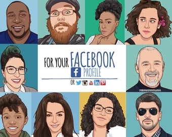 Realistic style cartoon portrait drawn from your photo - social media or business profile