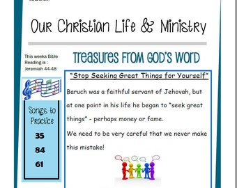 Kids OCLAM May 22-28 Prestudy Sheet Our Christian Life & Ministry JW Jehovah's Witnesses Homeschool Family Worship