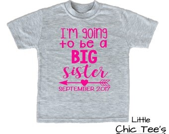 Big Sister Shirt, Big Sister Shirt Announcement, going to be big sister shirt, I'm Going To be A Big Sister Shirt