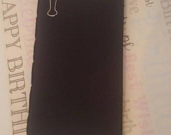 RemDori All Black Inserts, Midori Fauxdori Travelers Notebook Leather Journals
