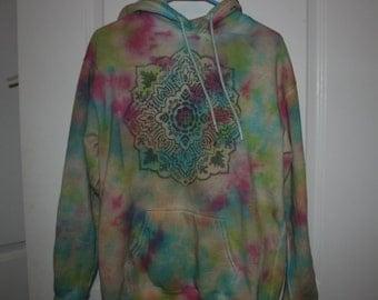 Tie Dye Rainbow Mandala Hoodie