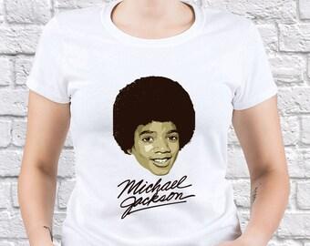 Michael Jackson/ King of Pop/ Womens tshirt/ Best Gift/ Young Jackson/ Young Michael/ Jackson tshirt/ Printed Jackson/ Jackson Gift/ (MJ08)