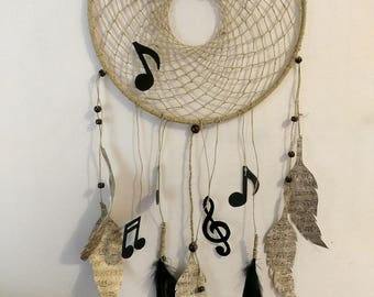 Song Treble clef music note dreamcatcher
