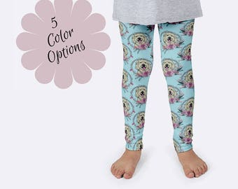 Doodle Leggings, Goldendoodle Leggings, Dog Leggings, Labradoodle Leggings, Print Leggings, Doodle Clothing, Girls Leggings